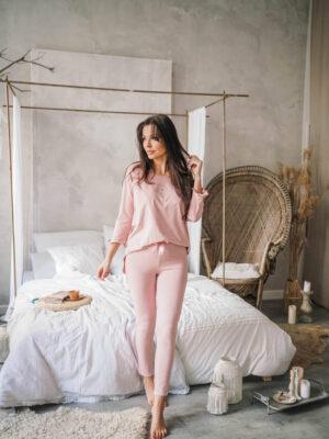 Piżama Summertime w kolorze pudrowego różu
