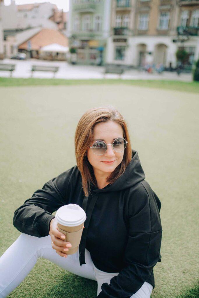 Długa bluza damska ZUZA – czarna